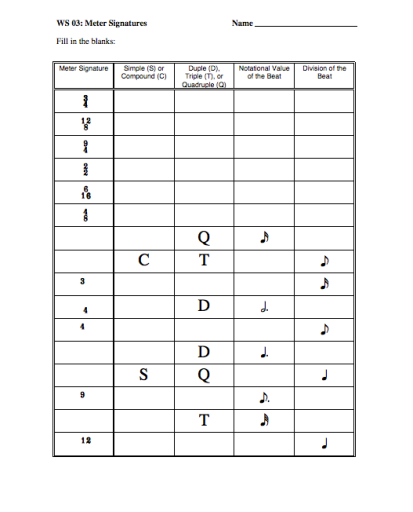 Music Worksheets For Elementary Images